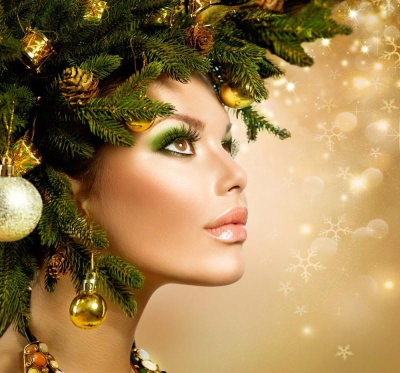 Красивый новогодний макияж