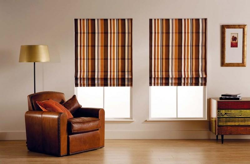 Римская штора для гостиной